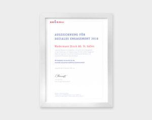 Auszeichnung für soziales Engagement 2018